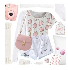 """""""Like strawberries and cream"""" by pastelneon ❤ liked on Polyvore featuring Hue, L.L.Bean, Rebecca Taylor, Casetify, Surya and C & F"""