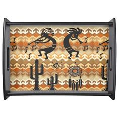 "Title : 70, Kokopellie, Icons-Silhouettes Art Serving Tray  Description : Fabrics, Patterns, Textiles, Stylish, Trendy, ""Home-Décor"", ""Ethnic-Cultural"", Tribal, Kokopelli, Oceanic, Bold, Colorful, Modern, Contemporary, Jacquard, Geometric, Nationality, Brocade, Exotic, Iconic, Symbolic, ""Home-Accessories"", Fashions, Polynesian, Silhouettes, Embellished, Embossed, Western, Southwest, ""Illustrative-Art"", ""Digital-Art"", Cactus, ""Native-American"", Vintage, Unique, Asian, Australia, Europe…"