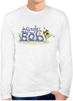 SüngerBob - SpongeBob Kendin Tasarla - Erkek Bisiklet Yaka Tişört Uzun Kollu