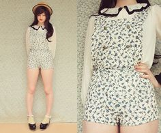 DIY Floral Romper (by Annika Victoria) http://lookbook.nu/look/4096844-DIY-Floral-Romper
