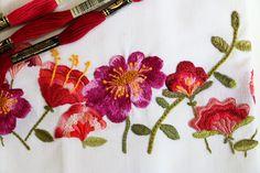 Embroidery, bordado, flowers, flor