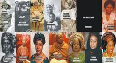 It's Busayolayemi's Blog.. : Picture Collage Of All Nigerian First Ladies