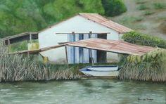 Riverside view - Velddrif. Watercolours. Watercolours, West Coast, Cape, Paintings, House Styles, Home Decor, Mantle, Cabo, Decoration Home