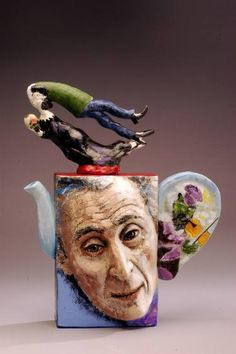 "Saatchi Art Artist Noi Volkov; Sculpture, ""Teapot Chagall"" #art"