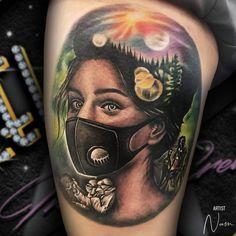 Awesome Tattoos, Cool Tattoos, Best Tattoo Shops, Colour Tattoo, Neo Traditional Tattoo, Stretch Marks, Big Tattoo, Tattoo Studio, Tatoos