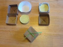 Handmade Body Butter Bars in oragami boxes