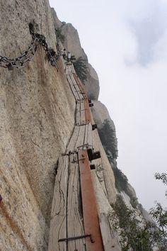 Huangshan Mountain Cliff Path China