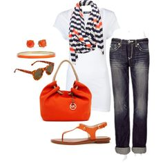 A fashion look from January 2013 featuring +Beryll t-shirts, Big Star jeans and MICHAEL Michael Kors sandals. Browse and shop related looks.