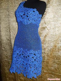 TRICO y CROCHET-madona-mía: Vestidos para mujeres a Crochet Ruso modelos