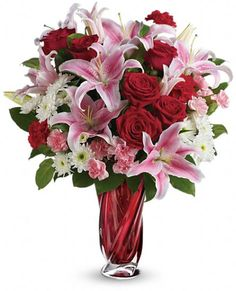 Teleflora's Swirling Beauty Bouquet - #Valentine's Day #flowers 2014