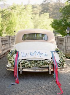 Hand painted getaway sign // Jose Villa Photography