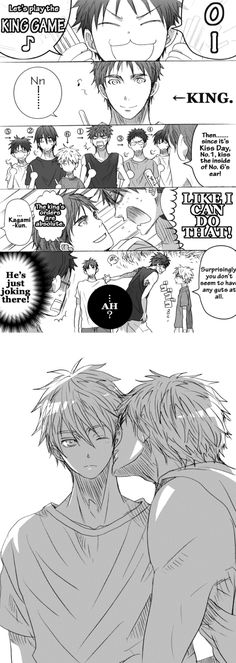 Thats not the INSIDE of his ear Kagami~~ The King orders are absolute! You have to do it AGAIN~~~ ^///^
