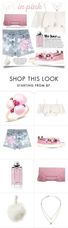 """Say yes to PINK!"" by teryblueberry ❤ liked on Polyvore featuring Pomellato, Topshop, Rialto Jean Project, Gucci, Charlotte Russe and Michael Kors"