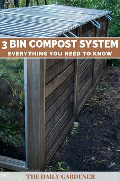 3 Bin Compost System: Everything You Need to Know! 3 Bin Compost System: Everything You Need to Know Homemade Compost Bin, Best Compost Bin, Making A Compost Bin, Backyard Retreat, Backyard Landscaping, Garden Compost, Vegetable Garden, Yard Waste, Soil Layers