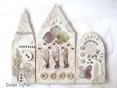 I have been enjoying working on these little houses so much! The plants were collected around late Autumn time and pressed for winter u...