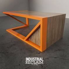 Metal & Maple. Angular Gravity Desk. IndustrialReclaim.com