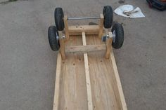 6 Wheel Garden Wagon : 5 Steps (with Pictures) - Instructables Lawn Tractor Trailer, Trailer Deck, Garden Wagon, Metal Cart, Hand Cart, Dump Trailers, Stainless Steel Counters, Used Tires, Flat Tire