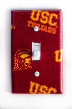 USC Trojans Single Toggle Switchplate. $7.95, via Etsy.