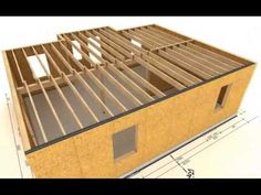 Method Building Systems Animation of construction of wooden house made by… Fine Home Building, Building A House, Icf Home, Sip House, Techno, Sips Panels, Wooden House Design, Structural Insulated Panels, Building Systems