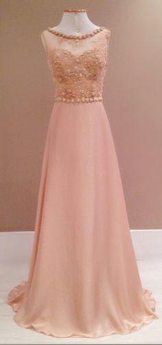 2017 New Style Prom Dress Blush Pink Chiffon