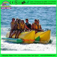 683.05$  Buy here - http://alih6p.worldwells.pw/go.php?t=32779101378 - 8 person custom color double tube Inflatable flying towables flying boat,banana boat inflatable rubber kayak for water park 683.05$