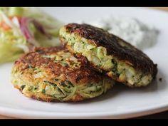 Zucchinibratlinge mit Tzatziki (Rezept) || Zucchini Patties with Tzatziki (Recipe) || [ENG SUBS] - YouTube