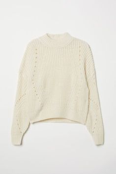 Short, wide jumper in soft, rib-knit chenille rib with dropped shoulders and long balloon sleeves. Cute Sweaters, Winter Sweaters, Vintage Sweaters, Striped Sweaters, Oversized Sweaters, Christmas Sweaters, Cropped Pullover, Cropped Sweater, Pullover Sweaters