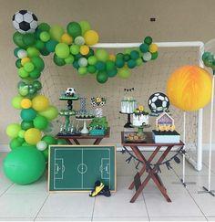 Soccer Birthday Parties, Football Birthday, Soccer Party, Birthday Party Themes, Party Decoration, Childrens Party, Balloons, Goalkeeper, Sport Theme