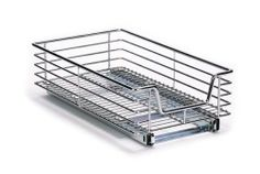 Household Essentials Extra-Deep Sliding Cabinet Organizer, Chrome, 11-1/2-Inch by Household Essentials. $49.00. Sliders allow for full tray extension allowing for easy access to items in the rear of your cabinets. Ball bearing glides insure ease of movement. Dimensions: 11.5 inches wide, 6.25 inches high, 21 inches inches dee. No assembly required. Made from commercial grade heavy duty steel. Make the most of the space in your cabinets with this 11.5-inch wide sliding wi...