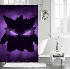 """New Pokemon Gengar Sinister Custom Shower Curtain 66"""" x 72"""" #Unbranded #Modern"""