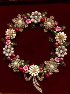 8x10 jewelry Wreath made by Beth Turchi 2015