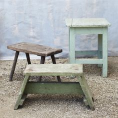Small vintage stools - design indulgence