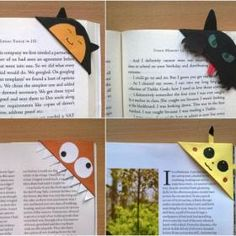 Some paper, glue, scissors, and your endless imagination are the only supplies need to make an assortment of corner bookmarks. This is a guide about making cute corner bookmarks. Corner Bookmarks, How To Make Bookmarks, Homemade Bookmarks, Teen Programs, Library Programs, Book Crafts, Paper Crafts, Kid Crafts, Diy Paper
