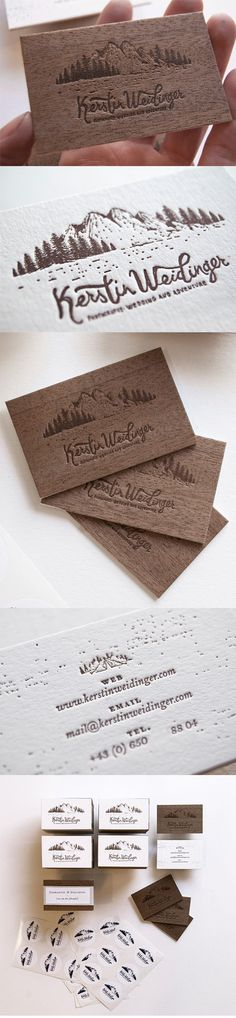 Gorgeous Letterpress Wood And Paper Business Card For A Wedding Photographer - Graphic Templates Search Engine Business Card Maker, Business Logo, Business Card Design, Luxury Business Cards, Unique Business Cards, Letterpress Business Cards, Letterpress Printing, Wedding Card Design, Wedding Cards