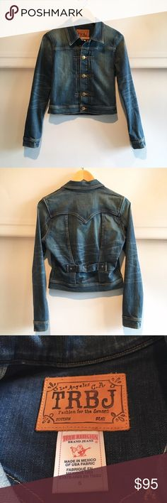 "True Religion Denim Jacket Chest 18"", shoulders 15.25"", length 19"", arms 25"". Beautiful denim jacket that has had very little wear. This is a statement piece on its own and will add an element of flair to any outfit. True Religion Jackets & Coats Jean Jackets"