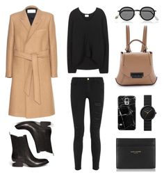 """Time for Camel"" by fashionlandscape ❤ liked on Polyvore featuring Yves Saint Laurent, ZAC Zac Posen, Frame Denim, Alexander Wang, Acne Studios, Casetify and Braun"