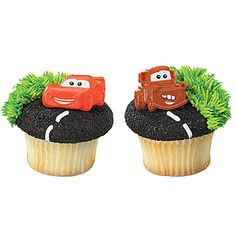 Disney Cars Mater and McQueen Cupcake Rings - 12 ct. At your next party don't forget to add these to top of the cupcakes! The kids will LOVE them! Disney Cars Birthday, Cars Birthday Parties, 2nd Birthday, Birthday Ideas, Birthday Cakes, Disney Cars Cupcakes, Car Cupcakes, Themed Cupcakes, Hot Wheels