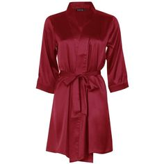 Boohoo Eva Satin Kimono Robe (£15) ❤ liked on Polyvore featuring intimates, robes, satin robe, kimono bathrobe, satin kimono, satin kimono robe and satin pajama set
