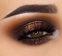 Here are stunning makeup ideas and eye makeup tutorials! All of them for your beauty! Here are stunning makeup ideas and eye makeup tutorials! All of them for your beauty! Smoke Eye Makeup, Hazel Eye Makeup, Eye Makeup Art, Natural Eye Makeup, Makeup For Brown Eyes, Eyeshadow Makeup, Brown Smokey Eye Makeup Tutorial, Applying Eyeshadow, Natural Eyeliner