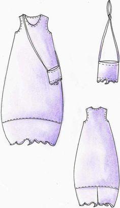 Weiteres - Kleid Bali - Lagenlook Größe S - XXL Einzelsch... - ein Designerstück von creativ-production bei DaWanda