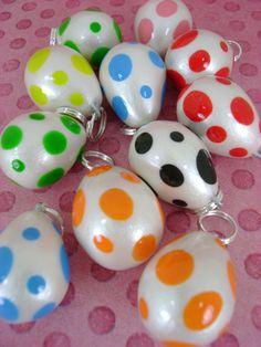 Cutesy Yoshi Egg Charms by *monsterkookies on deviantART