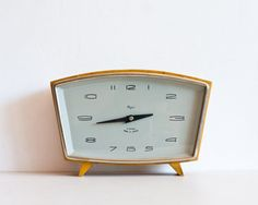 Table Clock Working Mechanical Clock Mantle by TheThingsThatWere, $55.00