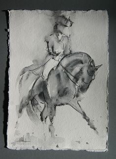 Sally Martins Drawn to Dressage Blog - Sketch 8 | Sally Martins Go With the Flow Blog