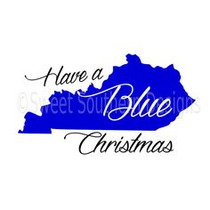 Have a blue Christmas Kentucky SVG instant download design for