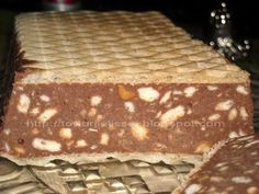 Romanian Desserts, Romanian Food, Easy Desserts, Delicious Desserts, Condensed Milk Cake, Cake Recipes, Dessert Recipes, Waffle Cake, Pastry Cake