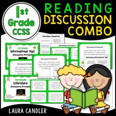 1st Grade CCSS Reading Discussion Prompts