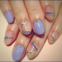 パステルレターネイル #nail #nails #nailart #art #design #avarice #kayo #pastel #letter (NailSalon AVARICE)