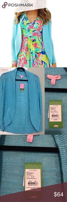 NWT Lilly Pulitzer Amalie Cardigan Blue XS Brand new with tags, size XS Amalie Cardigan in Breakwater Blue Lilly Pulitzer Sweaters Cardigans