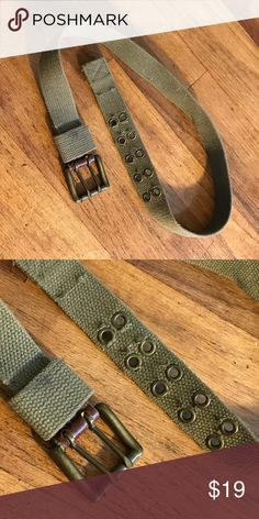 Vintage Belt Army green vintage belt in excellent condition. Fits 27-31.5in waist Accessories Belts