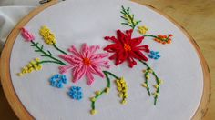 Hello! Today we are making the bullion flower stitch. Don't forget to like, share and subscribe!